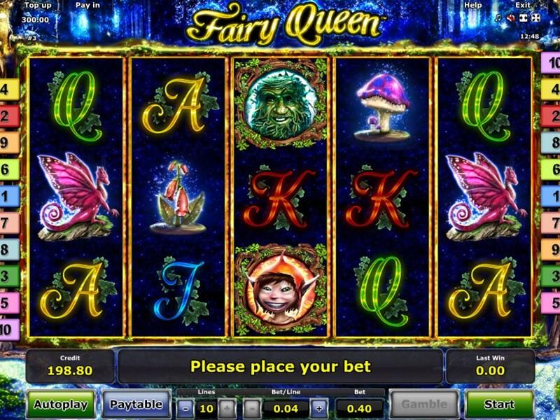 Fairy Queen Online Slot von Novomatic
